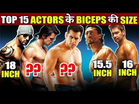 Top Bollywood Actor's BICEP SIZE | Salman Khan, John Abraham, Hirthik Roshan, Ajay Devgn Mp3