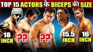 Top Bollywood Actor's BICEP SIZE   Salman Khan, John Abraham, Hirthik Roshan, Ajay Devgn