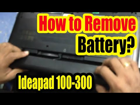 How to Remove battery from Lenovo Ideapad 300: Solved.(Not Easy)