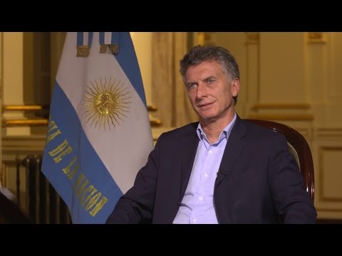 Argentina's president 'hopes for new chapter in the world'