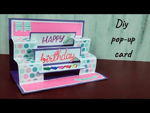 Handmade Birthday Popup Greeting Card Ideas By Crafteholic How To Make Cards