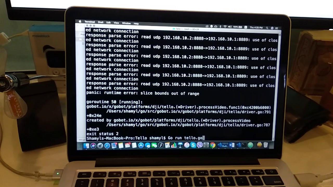Flying DJI Tello with GO Programming Language | Hackaday io