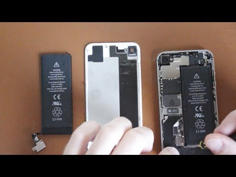 cfb8329d489 iPhone 4S - Cambiar la bateria - YouTube