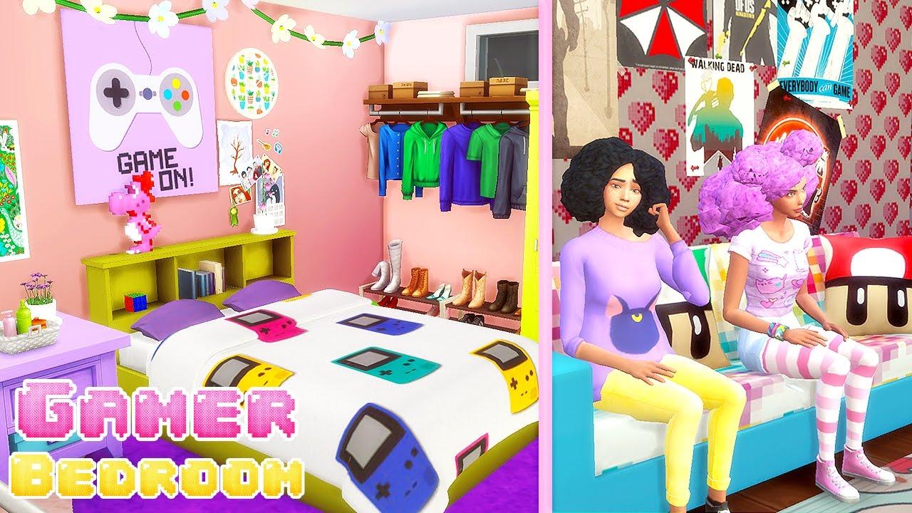 Sims 4 Gamer Girl Bedroom Cc 🎮 Youtube