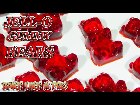 Easy JELLO Gummy Bears Recipe ! - YouTube