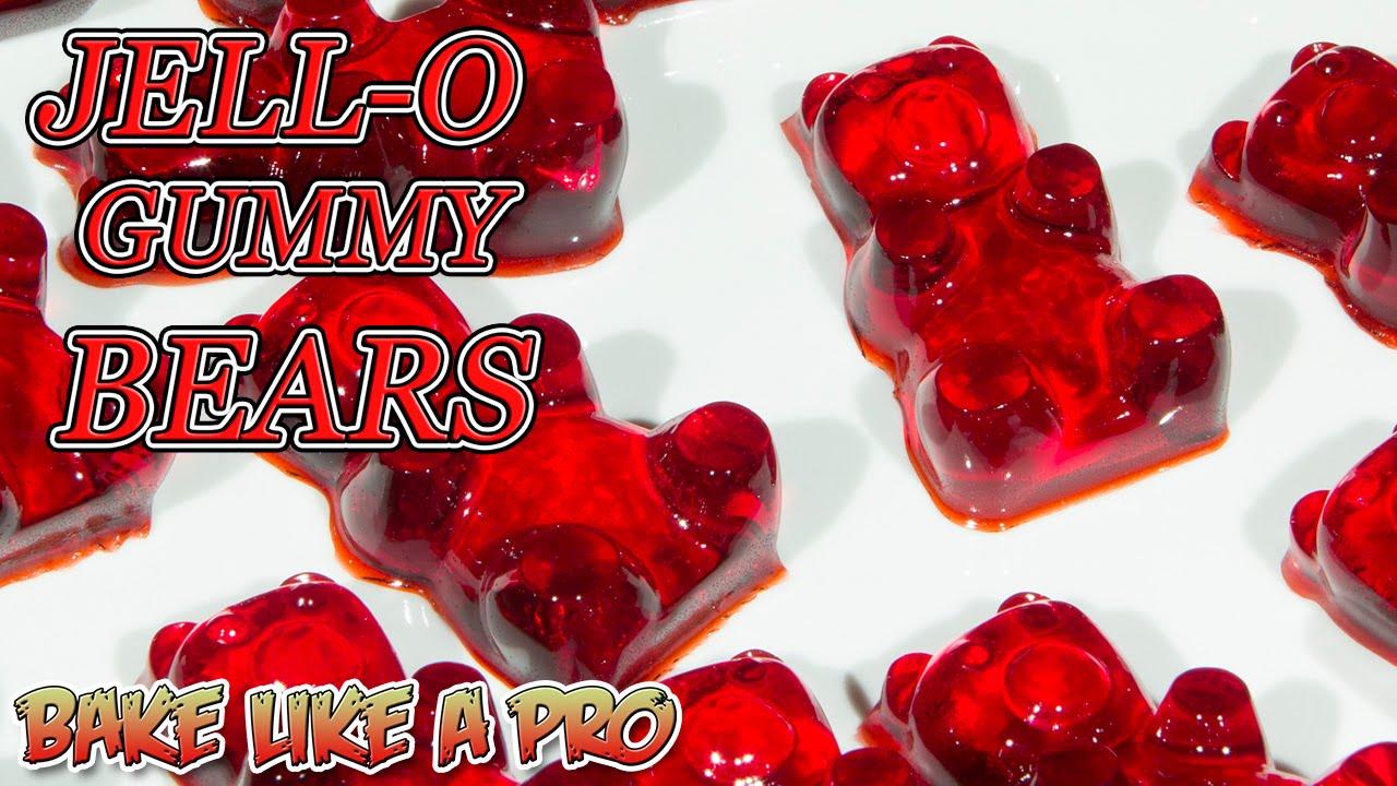 Easy JELLO Gummy Bears Recipe ! - YouTube