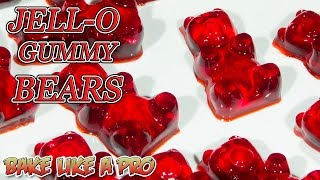 Easy JELLO Gummy Bears Recipe !