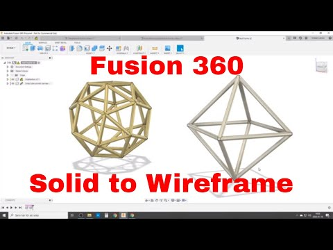 Make A Wireframe From A Solid In Fusion 360