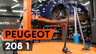 Pasukimo trauklė keitimas PEUGEOT 208 - vadovas