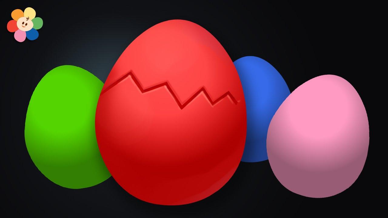 huevo sorpresa aprendizaje de colores para ninos rojo pandilla de colores youtube