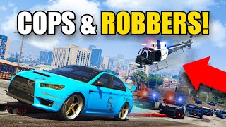 PLAYING COPS AND ROBBERS DLC! *GAMEPLAY!* | GTA 5 Roleplay (RP)