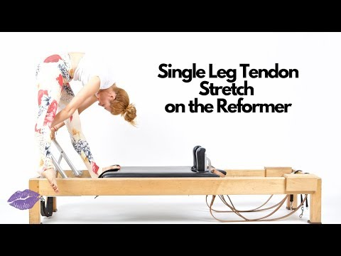 Single Leg Tendon Stretch On The Reformer | Online Pilates Classes