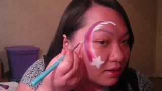 Eye design - Shooting Star Face Painting tutorial Thumbnail