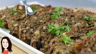 Black Bean & Potato Seitan Roast - Vegan Meatloaf Alternative!