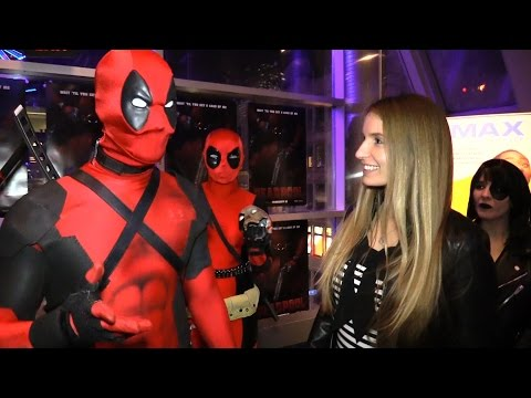 Deadpool Movie Premiere WITH DEADPOOL! TheSeanWardShow