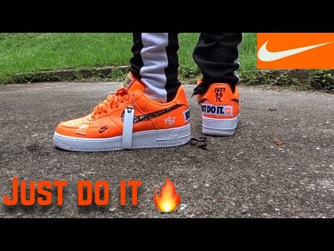 Nike Air Force 1 Just Do It On Feet & Review