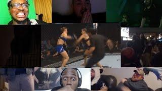 Amanda Nunes vs Ronda Rousey Knockout REACTION MASHUP