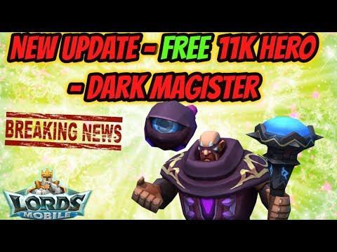 Lords Mobile - New Update - Free 11K Hero - Dark Magister