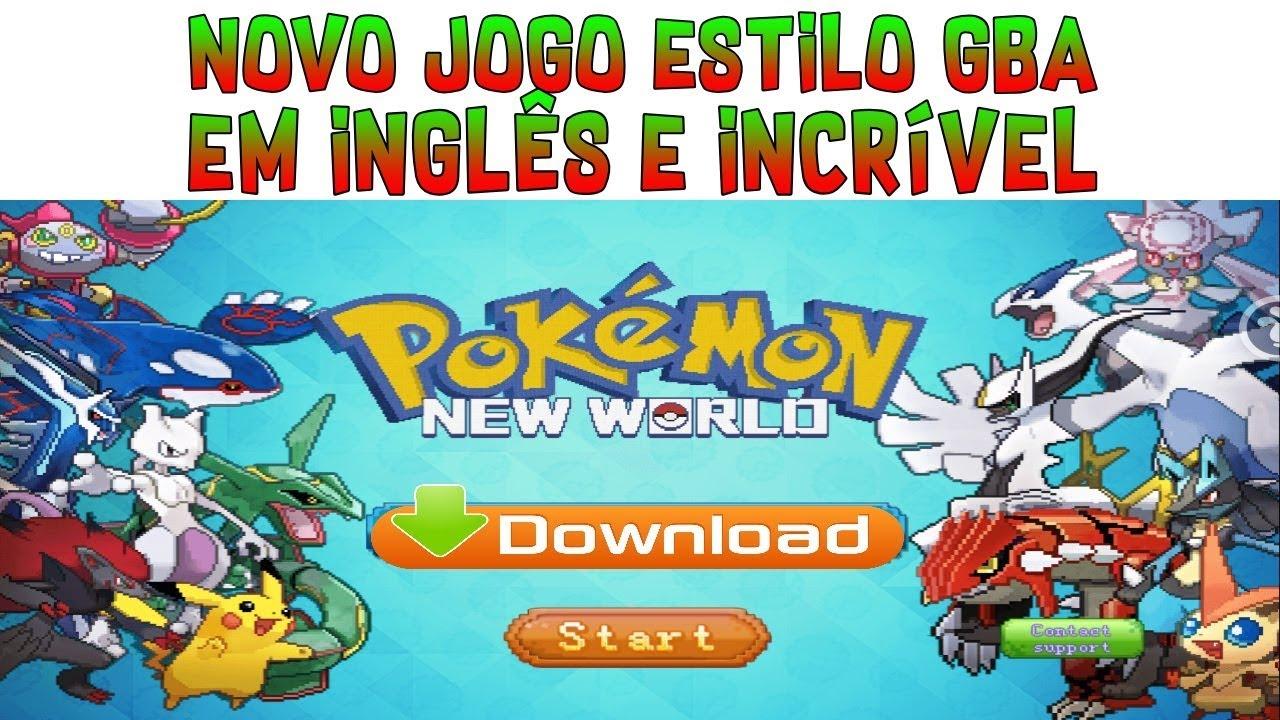 LANÇOU! Novo Pokémon Online Estilo GBA em Inglês Para