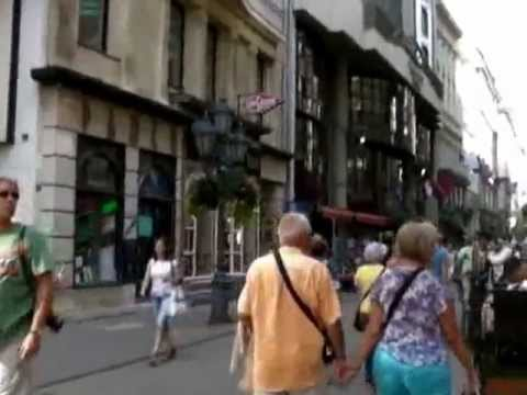 Interactive video of Vaci utca shopping street in Budapest (part1)