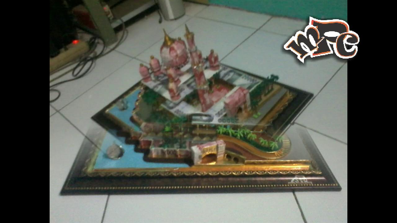 Gambar 3 Dimensi Miniatur Masjid - Gambar Kelabu