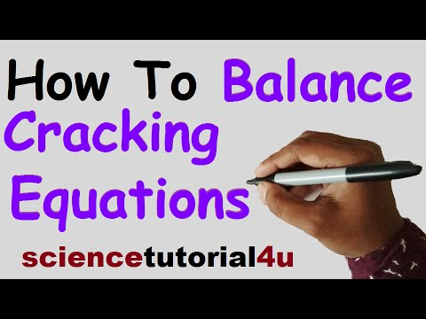 How to Balance Cracking Equation - YouTube
