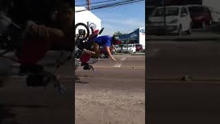 Motorcycle speed bump accident in Brazil