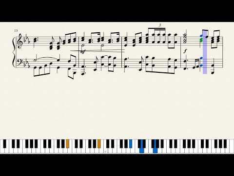 Piano Sheet Music for the National Anthem of the USSR   Tutorial