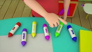 Боб поезд   Цветная песня для детей   узнать цвета в россии   Bob Train   Crayons Color Song