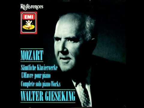 GIESEKING - Mozart 12 Variations on Ah, vous dirais-je, Maman K.265