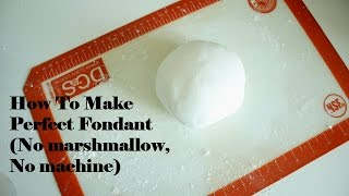 How to make fondant without machine and marshmallow (with hands) 폰단트(슈가반죽) 손으로 만들기