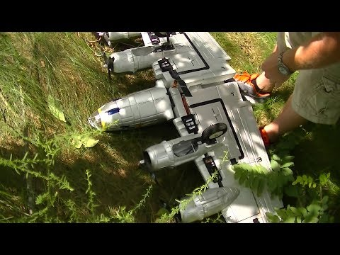 RC B-17 Death Crash FlyGuy  Destroyed Lots more RC Flying FAILS CRAZY FUN