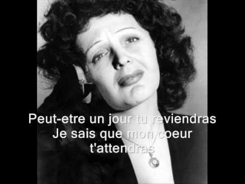 Edith Piaf - Tu es partout (with lyrics)
