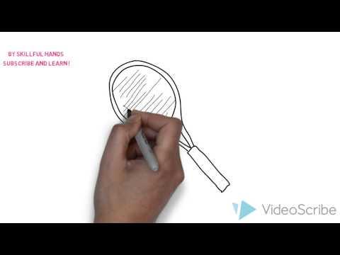 Как нарисовать ракетку для тенниса