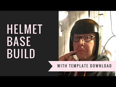 Costume/ Cosplay Helmet base build with template