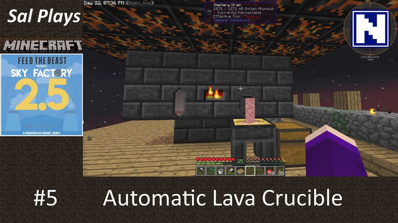 S2E05 Sal Plays Skyfactory 2 5 - Automatic Lava Crucible
