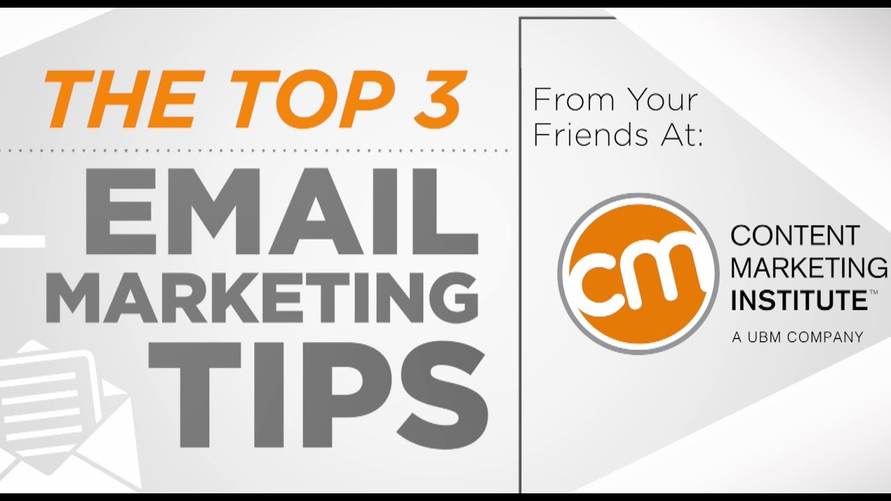 Top 3 Email Marketing Tips - YouTube