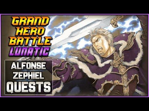 [F2P] Zephiel LUNATIC Grand Hero Battle, Alfonse + Zephiel QUESTS -   Fire Emblem Heroes