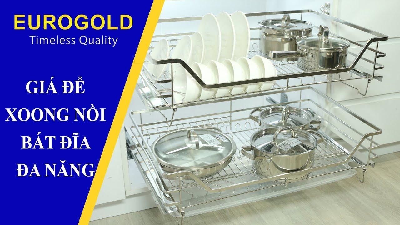 GIÁ ĐỂ XOONG NỒI BÁT ĐĨA ĐA NĂNG - Phụ Kiện Tủ Bếp   Eurogold.com.vn