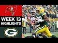 Buccaneers vs. Packers   NFL Week 13 Game Highlights