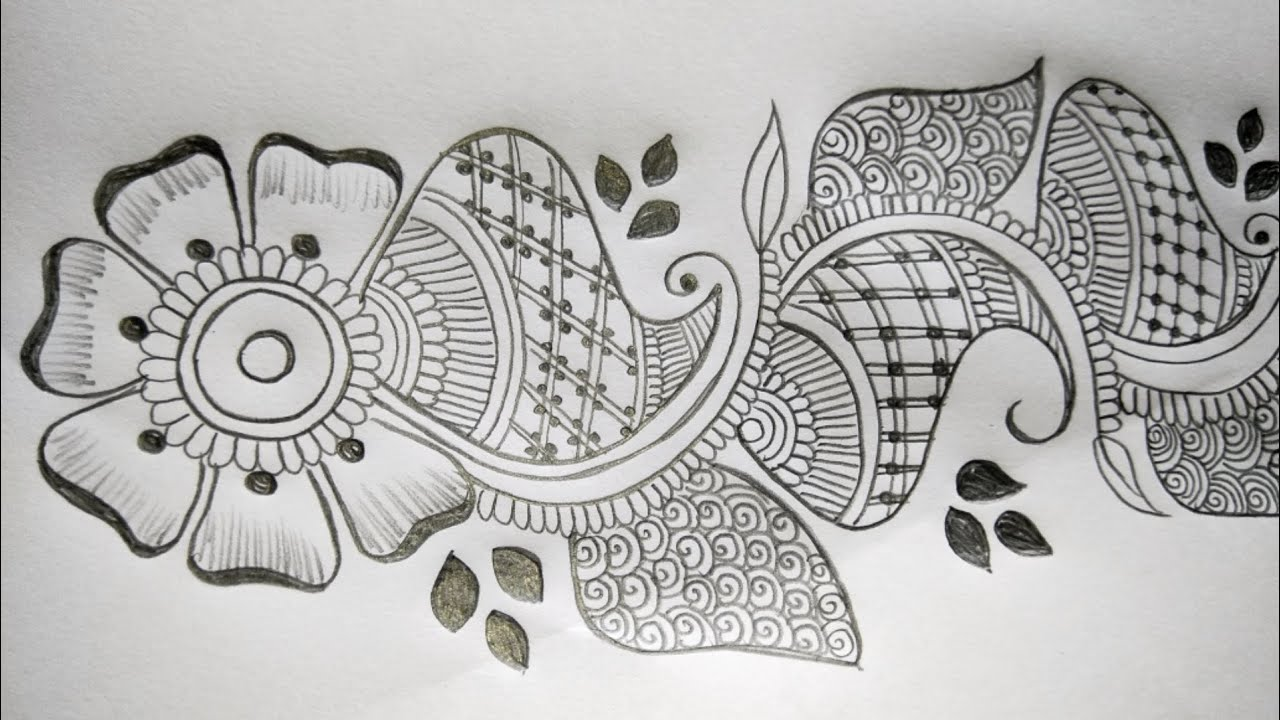 Simple Mehndi Design Beautiful Mehndi Design Pencil Mehndi Design Easy Mehndi That Glam Roshani Youtube