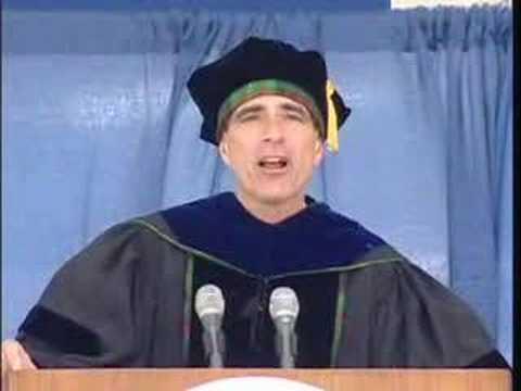Randy Pausch Inspires Graduates