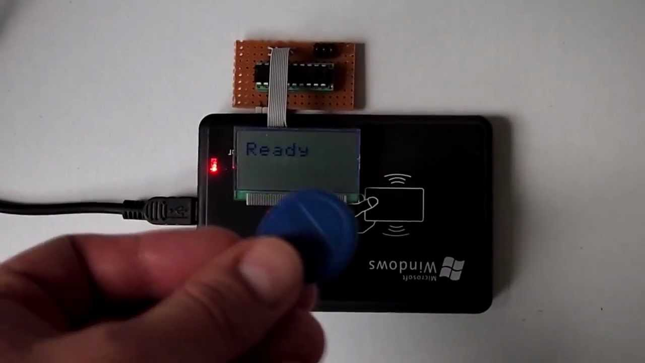 Hacking a USB RFID-Reader for Microcontroller usage