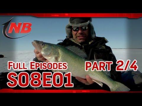 (Part 2/4) Hog Callin- Ice Fishing Lake Winnipeg Walleyes