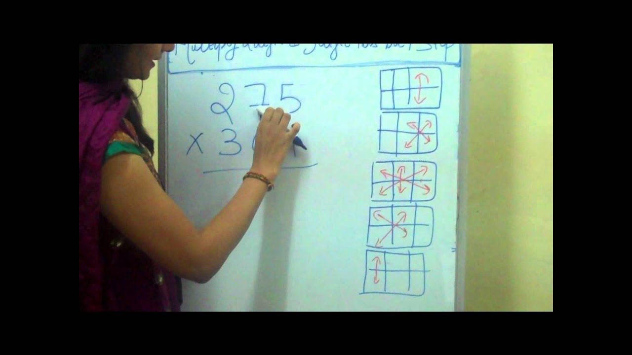 How to Multiply 2 digit and 3 digit numbers in 1 step - YouTube