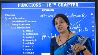 I PUC | Computer Science | Functions - 02