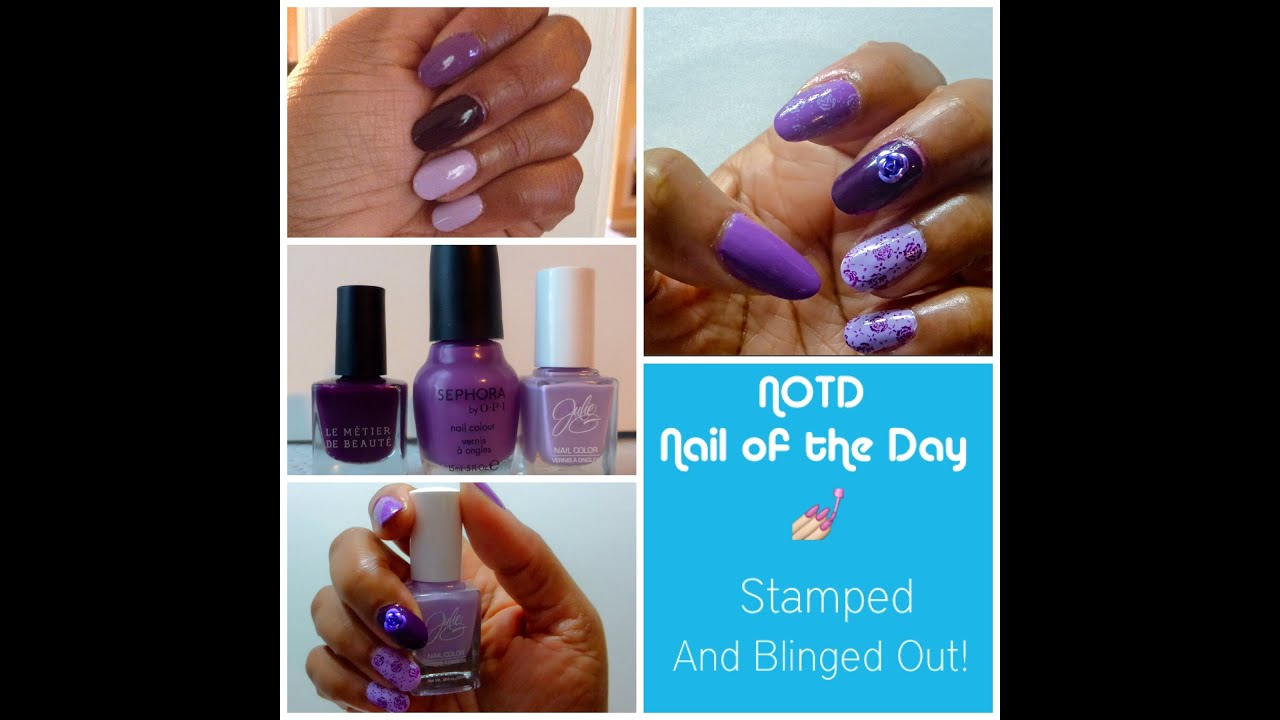 Nail Stamping Tutorial Tips & Tricks | Shades of Purple Roses w ...