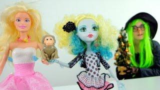 Видео для девочек. Куклы и символ 2016 года - Обезьянка