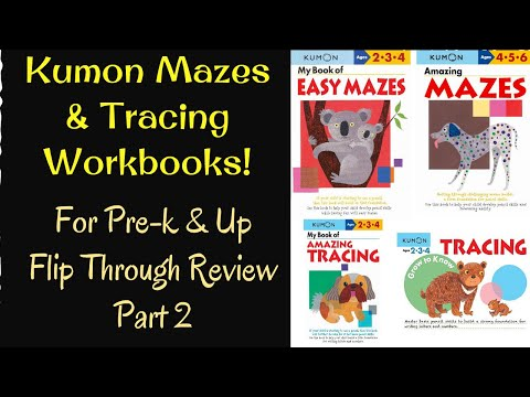 kumon-mazes-&-tracing-workbooks-for-pre-k-&-up:-flip-through-review-(part-2)