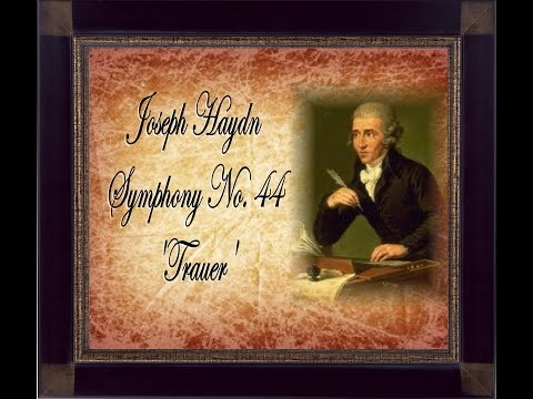 haydns symphony no 44 Recent literature on joseph haydn  journal of the american musicological society 44  first movements of symphony no 96 and string quartets opp 74/3 and 76/2.